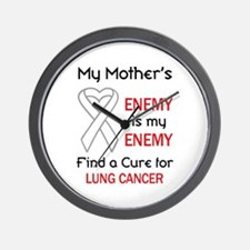 MY ENEMY LUNG CANCER Wall Clock