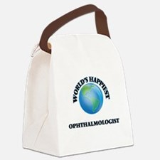 World's Happiest Ophthalmologist Canvas Lunch Bag