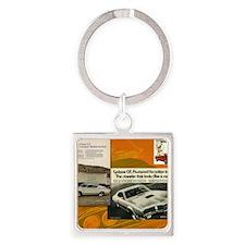 American Muscle Car Calendar Mercu Square Keychain