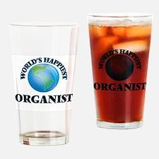World's Happiest Organist Drinking Glass