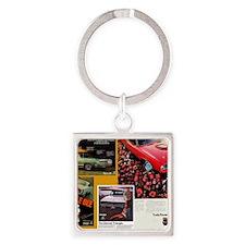 American Muscle Car Calendar Mopar Square Keychain