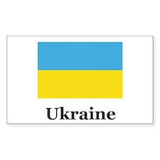 Ukraine Heritage Rectangle Decal