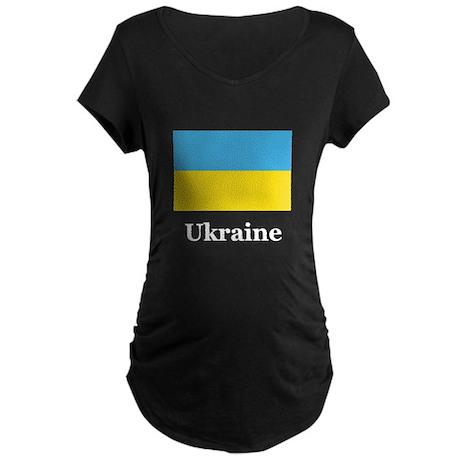 Ukraine Heritage Maternity Dark T-Shirt