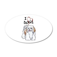 I LOVE DOGS Wall Decal