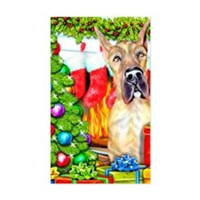 Great Dane Stockings Brindle Rectangle Decal