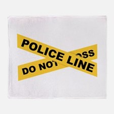 Police Line Throw Blanket