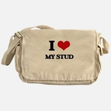 I love My Stud Messenger Bag