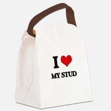 I love My Stud Canvas Lunch Bag