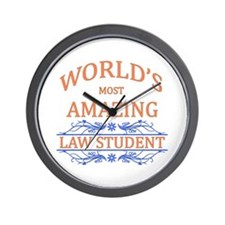 Law Student Wall Clock