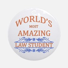 Law Student Ornament (Round)