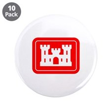 """ARMY CORPS OF ENGINEERS 3.5"""" Button (10 pack)"""