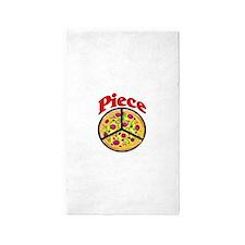 Piece Pizza Peace Sign Area Rug