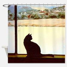 Tosca's Winter Window Shower Curtain