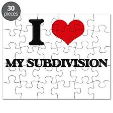 I love My Subdivision Puzzle