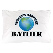 World's Happiest Bather Pillow Case