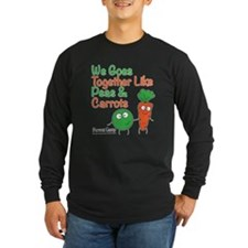 Peas and Carrots Dark Long Sleeve T-Shirt