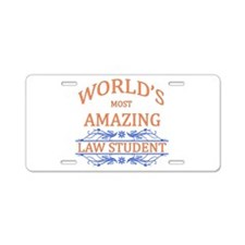 Law Student Aluminum License Plate