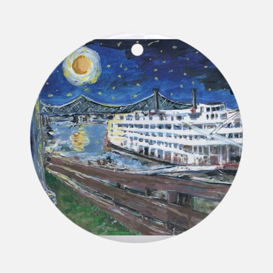 Mississippi Riverboat Ornament (Round)
