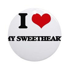 I love My Sweetheart Ornament (Round)