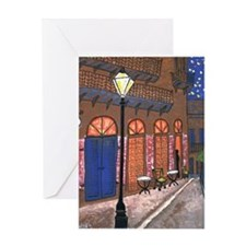 Night Cafe New Orleans Greeting Cards