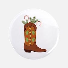 """Cowboy Christmas 3.5"""" Button"""