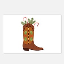 Cowboy Christmas Postcards (Package of 8)