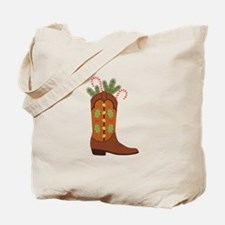 Cowboy Christmas Tote Bag