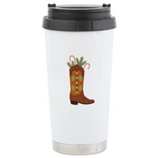 Cowboy Christmas Travel Mug