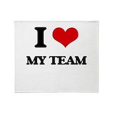 I love My Team Throw Blanket