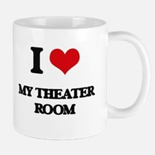 I Love My Theater Room Mugs