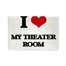 I Love My Theater Room Magnets
