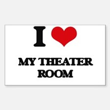 I Love My Theater Room Decal
