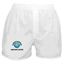 World's Happiest Broadcaster Boxer Shorts