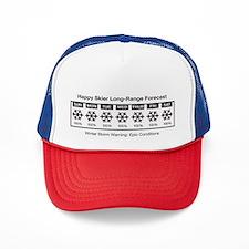 Happy Skier Forecast Trucker Hat