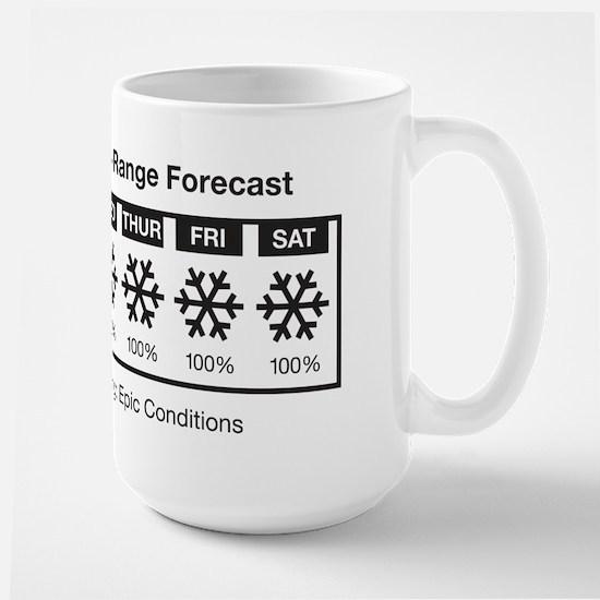 Happy Skier Forecast Large Mug