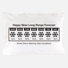 Happy Skier Forecast Pillow Case