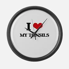 I love My Tonsils Large Wall Clock