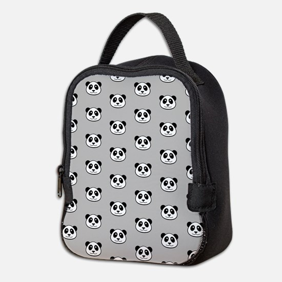 Panda Face Pattern Neoprene Lunch Bag