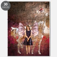 Fairy Girl And Unicorn Puzzle