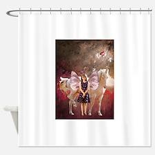 Cute Moonduster Shower Curtain