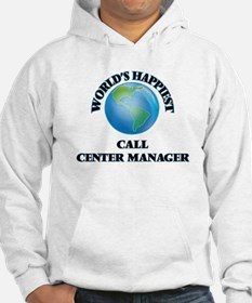 World's Happiest Call Center Man Hoodie