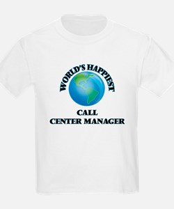 World's Happiest Call Center Manager T-Shirt