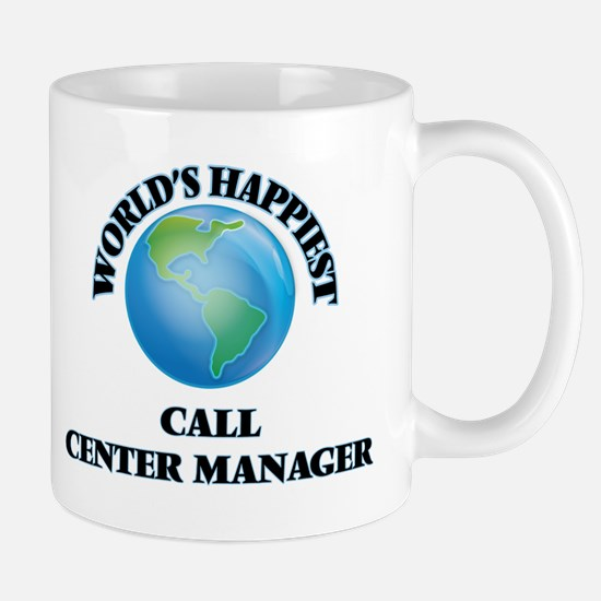 World's Happiest Call Center Manager Mugs