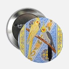 """Cockatiels 2.25"""" Button (10 pack)"""