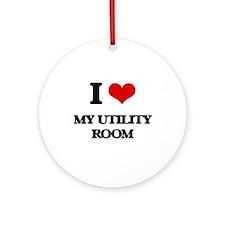 I love My Utility Room Ornament (Round)