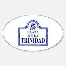 Plaza de la Trinidad, Granada - Spain Decal