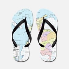Colombia mapa oficial Flip Flops