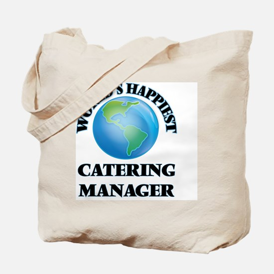 World's Happiest Catering Manager Tote Bag