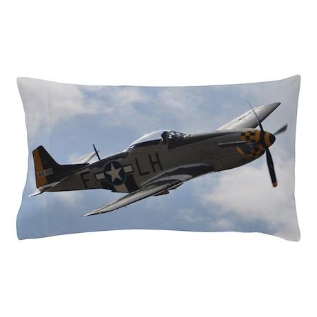 P 51d Mustang Pillow Case By Lukenofurther