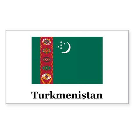 Turkmenistan Turkmen Heritage Sticker (Rectangular